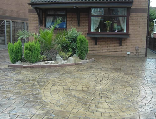 pattern imprinted concrete driveways Bury